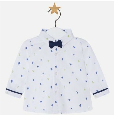 New Mayoral Baby Boy Long Sleeve Shirt and bow tie, Age 1-2 Months (1112)