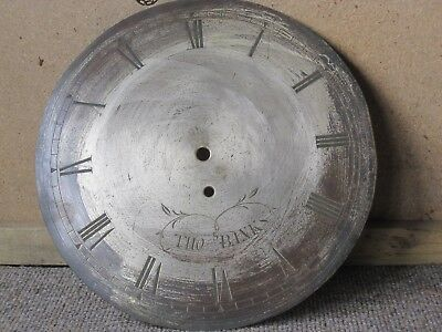 antique wall clock silver dial face