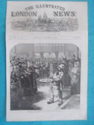 1870 The Illustrated London News Title Page Holzschnitt Antique Print #10