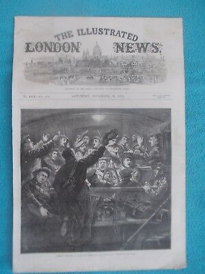 1870 The Illustrated London News Title Page Holzschnitt Antique Print #9