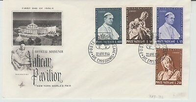VATICAN FIRST DAY COVERS 1964 Vatican Pavillion NY Fair 1966 Concilium #