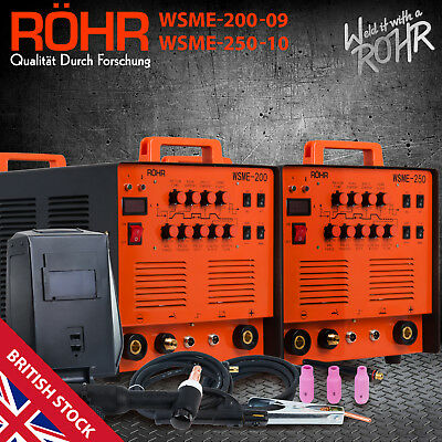 ROHR TIG Welding Machine AC/DC MMA ARC Inverter 4 in 1 Combo Welder WSME200/250