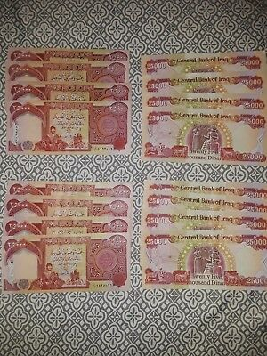 100,000 Iraqi Dinar (4) 25,000 Notes Uncirculated!! Authentic!! Fast Delivery!!!
