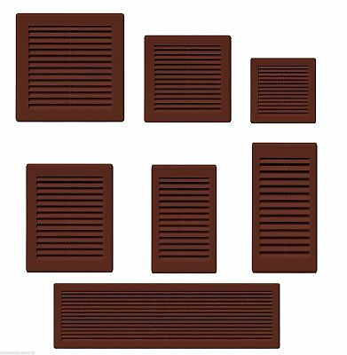 Air Vent Grille Brown Plastic Wall Ducting Ventilation Cover Variety of Sizes