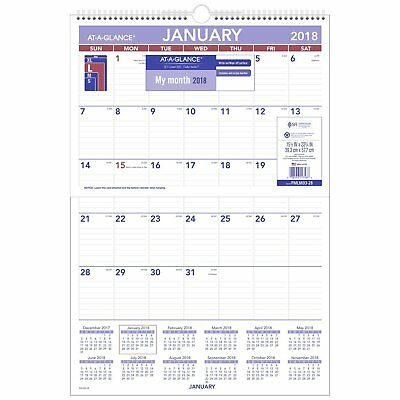 """AT-A-GLANCE Monthly Wall Calendar, January 2018 - December 2018, 15-1/2"""" x"""