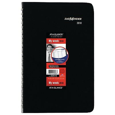 AT-A-GLANCE DayMinder Weekly Appointment Book / Planner, January 2018 - December