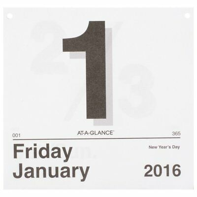 AT-A-GLANCE Today Is Daily Wall Calendar Refill 2016, January – December, 9.37 x