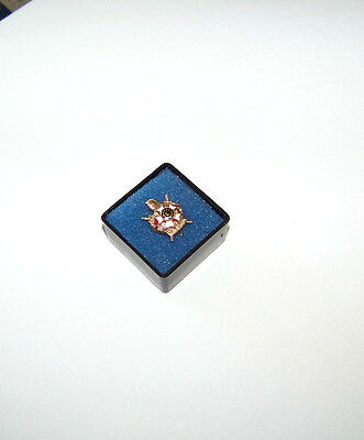 Vintage -10K Gold And Enamel With Seed Pearls Masonic Demolay F.s. Land Pin