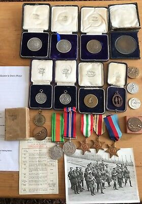 Huge Wwii Medal Collection To Lieutenant E J Newall - West Kent Regiment