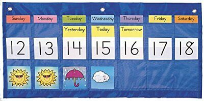 Carson Dellosa Weekly Calendar with Weather Pocket Chart 5636