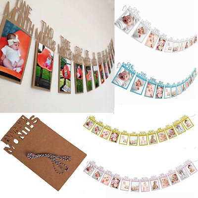 1st Birthday Banner Recording 1-12 Month Photo Garlands Monthly Bunting Decor