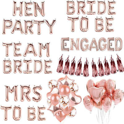 Team Bride Mrs To Be Hen Party Foil Latex Confetti Balloon Engaged Wedding Decor