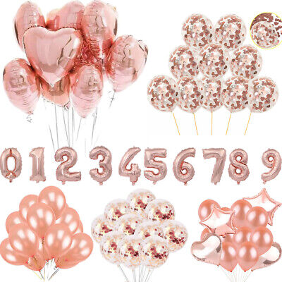 Rose Gold Series Foil Latex Balloon Helium Star Wedding Birthday Hen Party Decor