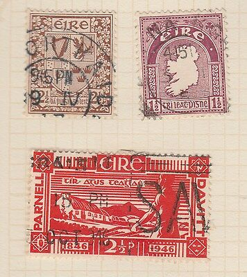 IRELAND 3 Stamps old Album Pages (removed for Shipping)  #