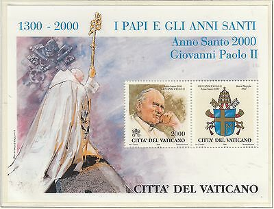 VATICAN 2000 Popes Holy Year 3rd Series MS  MUH