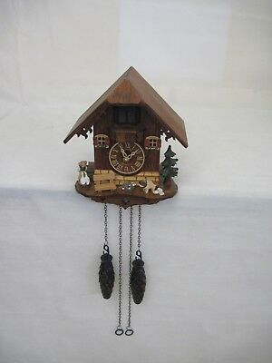Vintage German Wooden Cuckoo Wall Clock