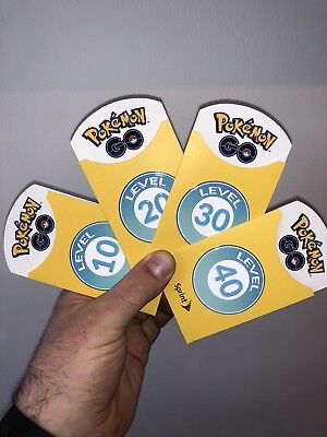 Rare! Sprint Pokemon GO Level 10-40 Trainer Patch Badges: Unused Full Set!