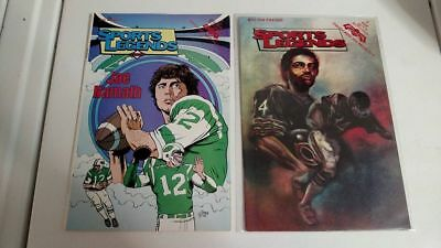 Revolutionary Comics Sports Legends Lot of 4 Namath, Payton, Chamberlain, Thorpe