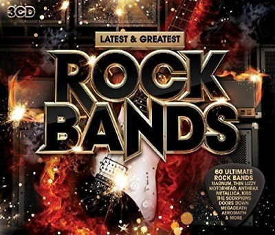 Various Artists-Latest & Greatest Rock Bands  (UK IMPORT)  CD NEW