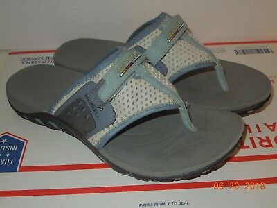 08dfa0a21602 MERRELL Flip Flop Thong Women Sport Sandals Vibram Blue Grey Color size 8 1