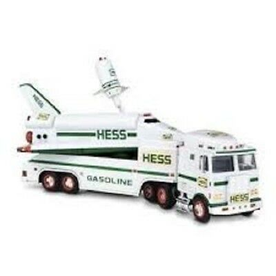 1999 Hess Toy Truck And Space Shuttle with Satellite. Mint in box.