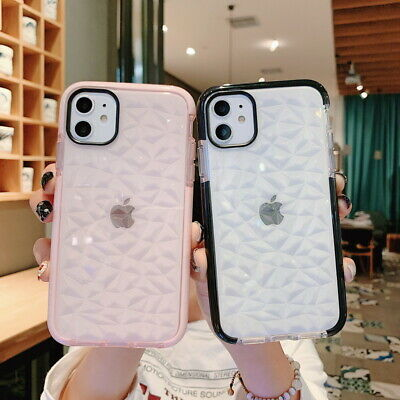 3D Diamond Bling Crystal Soft Clear Case Cover For iPhone XS Max XR X 8 6 7 Plus