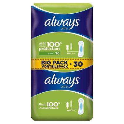 Always Ultra Normal Sanitary Towels 2 x 15 per pack (PACK OF 2)