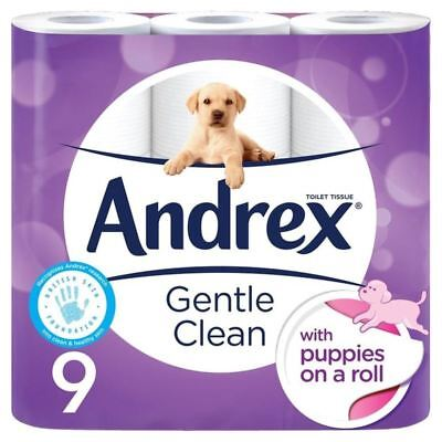 Andrex Gentle Clean Toilet Tissue 9 per pack (PACK OF 2)