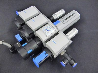 Festo MS4 Series, On-Off Start Valve Manifold with Gauge and Drain Level
