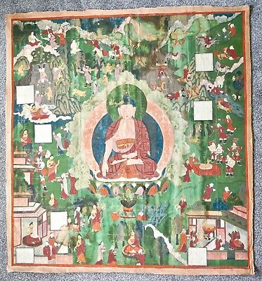 Very Large Fine Provenance Thangka  - China / Tibet  19th Century