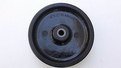 "Noelting ~ Faultless 8 x 2 x 5/8 Axle Shaft Plaskite Wheel ""New"""
