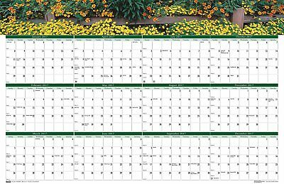 """House of Doolittle 2017 Laminated Wall Calendar, Earthscapes Gardens, 24 x 37"""""""