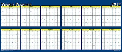 """House of Doolittle 2017 Laminated Wipe Off Wall Calendar, Reversible, 60 x 26"""""""
