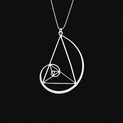 golden triangle necklace jewellery charms- Fibonacci-golden ratio With 50cm chai