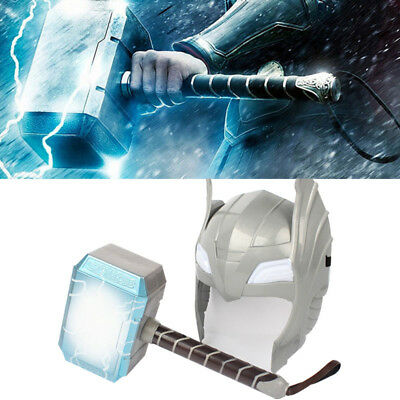 The Avengers Thor Mask LED Glowing Sounding Hammer Boy Cosplay Party Mask Gift