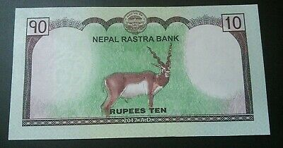 Nepal 10 Rupees Rastra Bank Nepalese Rupee $10 UNC Sequential Bills