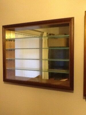 Wall Mounted Model Display Cabinet for model buses, trains or cars etc