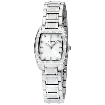 Bulova Highbridge Mother of Pearl Dial Stainless Steel Ladies Watch 96R162