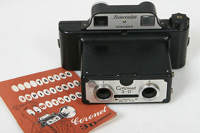 Coronet 3D stereo Camera 3 D with instructions, vintage