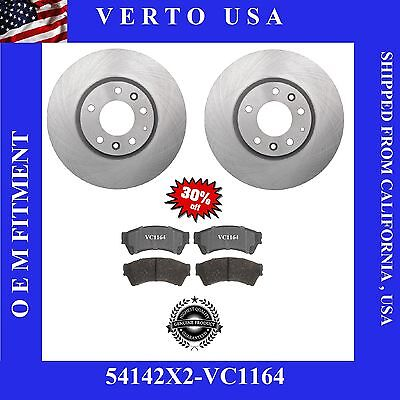 Verto USA Set Of 2 Front Brake Rotor & Ceramic Pads For Ford Fusion 54142-VC1164