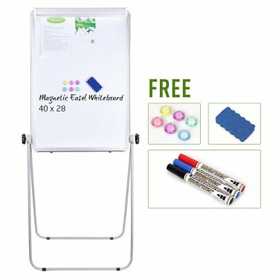 Stand Board - 40x28 inches Magnetic Whiteboard Double Sided Dry Erase Board, & 3