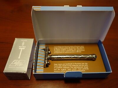 Fatip Retro Nickel DE Safety Razor (Open Comb)