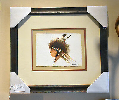 Original Native American Painting by Montana Crow artist Kevin Red Star 2018