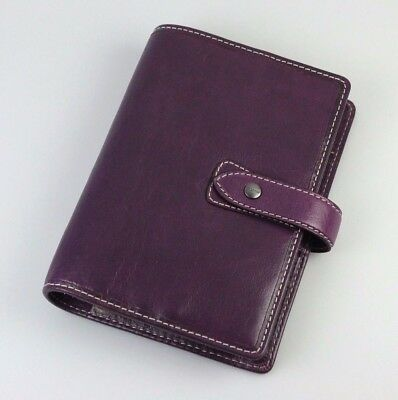 Filofax Malden Personal Purple 2017 Leather Agenda Made in UK (025850)