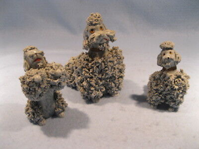 "Vintage Gray Collectible ""spaghetti"" Poodles"