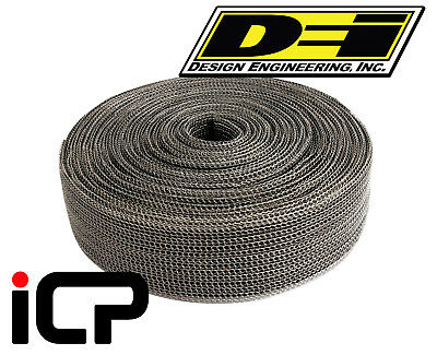 "DEI Black EXO Heat Exhaust Wrap 1.5""x20ft Built In Exoskeleton No Ties Needed"