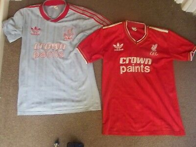 09b36a2a70f RARE Kids Vintage Liverpool Football Shirts home  Away 86 87 88 CROWN PAINTS