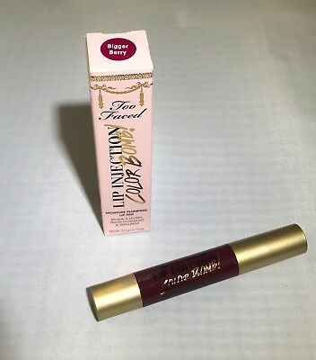 Too Faced Lip Injection Color Bomb Moisture Plumping Lip Tint- BIGGER BERRY NIB