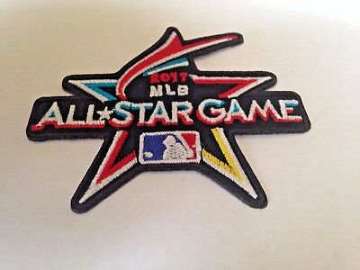 """MLB All Star Game Jersey Logo Patch 2017 Marlins Iron On Sew Shirts Jackets 3.5"""""""