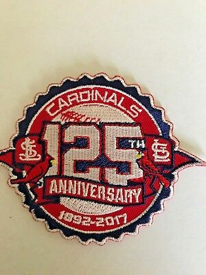 St. Louis Cardinals 125 Years Jersey Patch Busch Iron On Sew On Shirt Jacket Bag